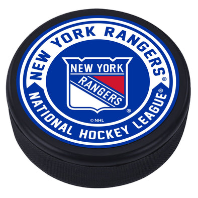 New York Rangers Arrow Textured Puck