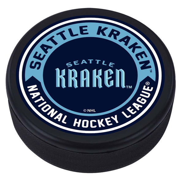 Seattle Kraken Textured Wordmark Puck