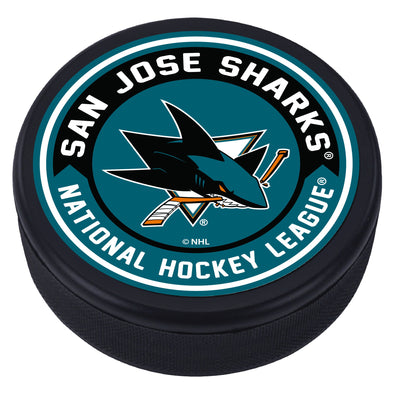 San Jose Sharks Arrow Textured Puck