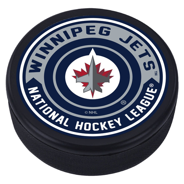 Winnipeg Jets Arrow Textured Puck