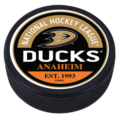 Ahaheim Ducks Block Textured Puck