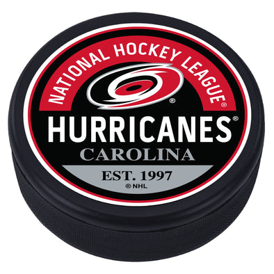 Carolina Hurricanes Block Textured Puck