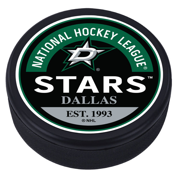 Dallas Stars Block Textured Puck