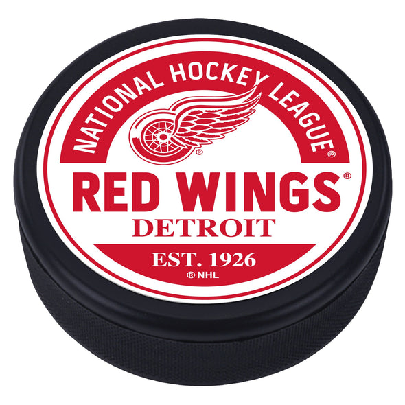 Detroit Red Wings Block Textured Puck
