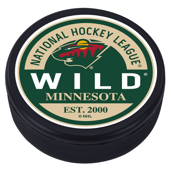 Minnesota Wild Block Textured Puck