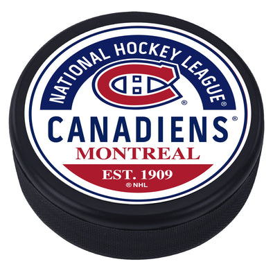 Montreal Canadiens Block Textured Puck