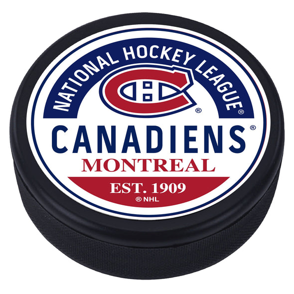 Montreal Canadiens Block Design Puck