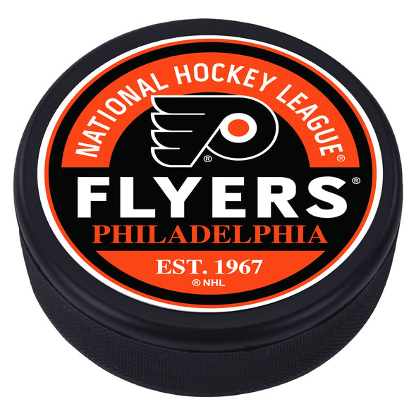 Philadelphia Flyers Block Textured Puck