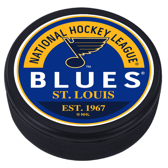 St. Louis Blues Block Textured Puck