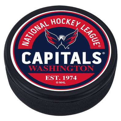 Washington Capitals  Block Textured Puck