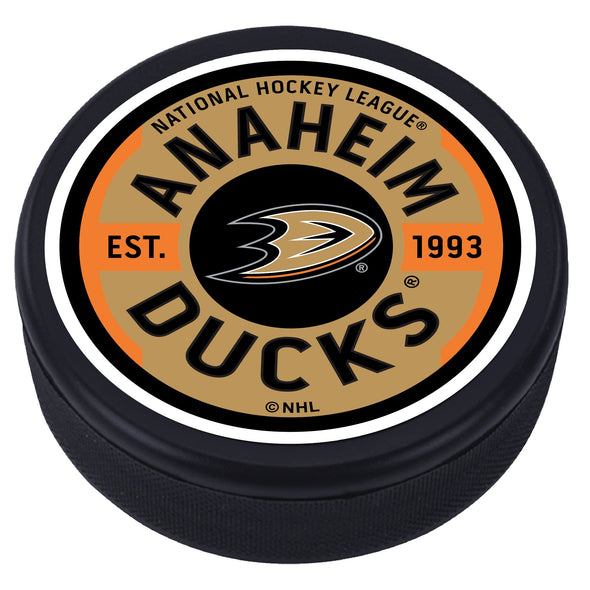 Ahaheim Ducks Gear Textured Puck