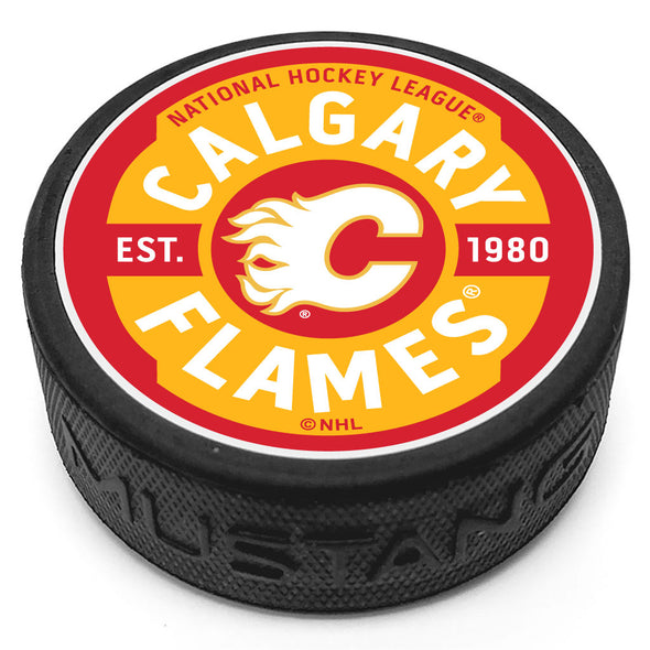 Calgary Flames Gear Textured Puck