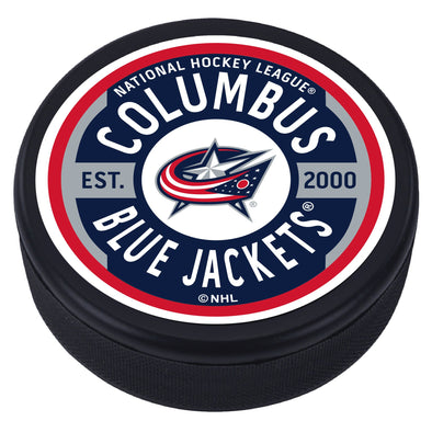 Columbus Blue Jackets Gear Textured Puck