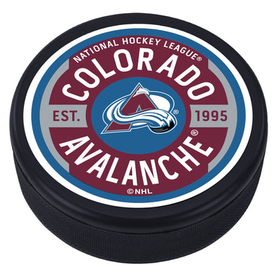 Colorado Avalanche Gear Textured Puck