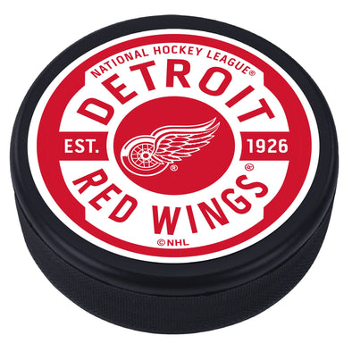 Detroit Red Wings Gear Textured Puck