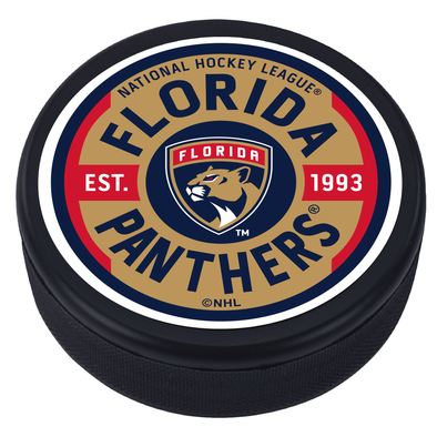 Florida Panthers Gear Textured Puck