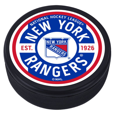 New York Rangers Gear Textured Puck
