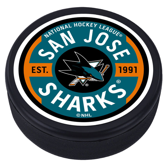 San Jose Sharks Gear Textured Puck