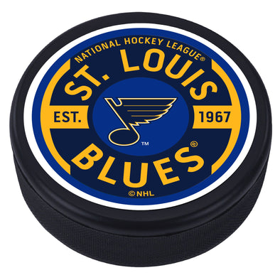 St. Louis Blues Gear Textured Puck