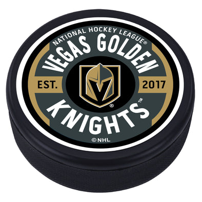 Vegas Golden Knights Gear Textured Puck