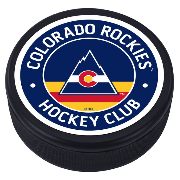 Colorado Rockies Vintage Striped Textured Puck