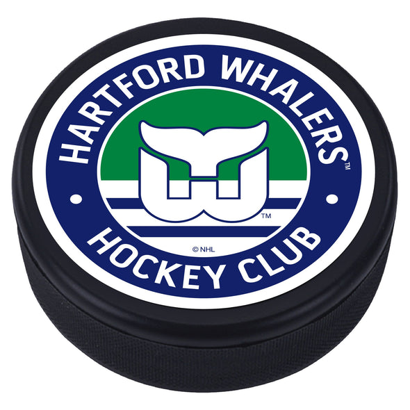 Hartford Whalers Blue Vintage Textured Puck