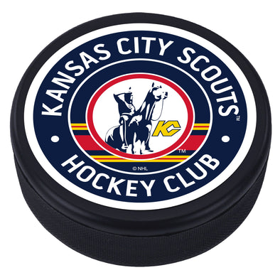Kansas City Scounts Vintage Striped Textured Puck