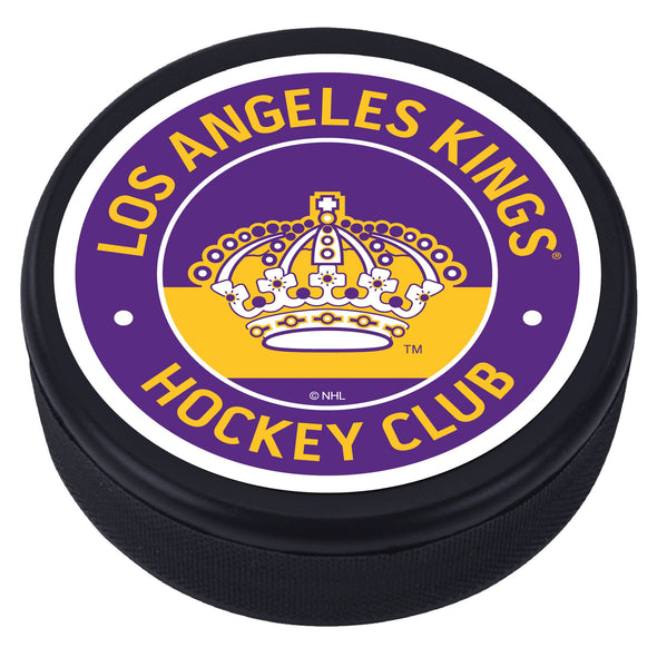 Los Angeles Kings Crown Vintage Striped Textured Puck