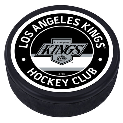 Los Angeles Kings Black Vintage Striped Textured Puck