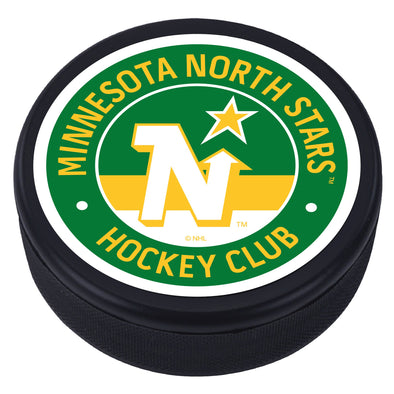 Minnesota North Stars Vintage Striped Textured Puck