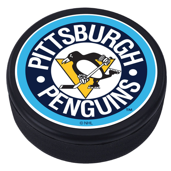 Pittsburgh Penguins Vintage Striped Textured Puck