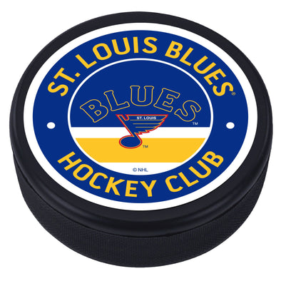 St. Louis Blues Arch Vintage Striped Textured Puck