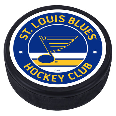 St. Louis Blues Vintage Striped Textured Puck