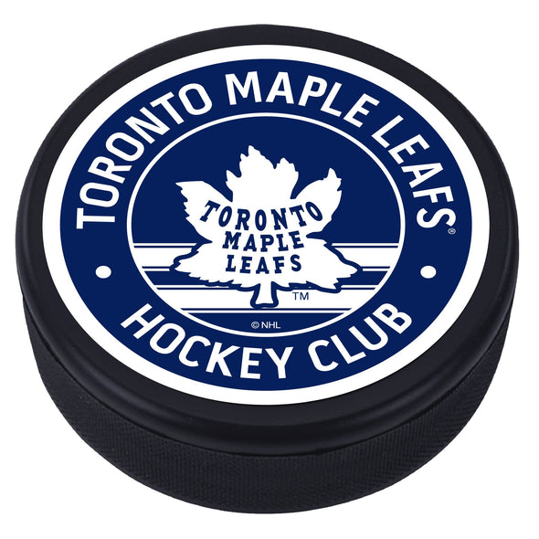 Toronto Maple Leafs Vintage Striped Textured Puck