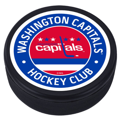 Washington Capitals  Vintage Striped Textured Puck