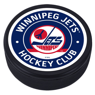 Winnipeg Jets Vintage Striped Textured Puck