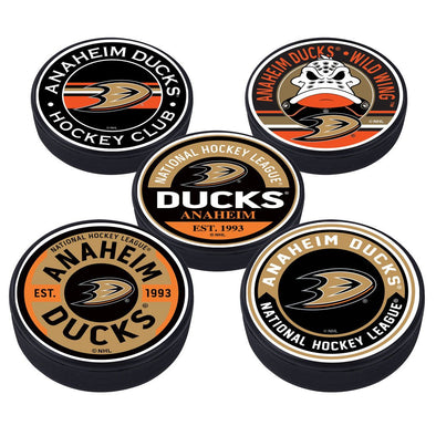 Ahaheim Ducks 5 Puck Pack