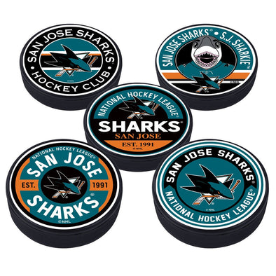 San Jose Sharks 5 Puck Pack