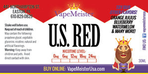 US Red e juice