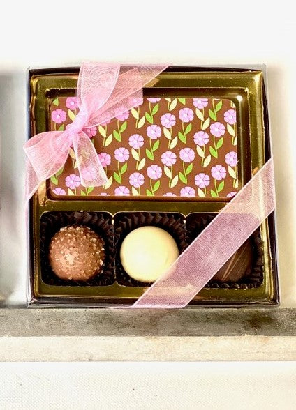 Decorated Chocolate Card and Assorted Truffles