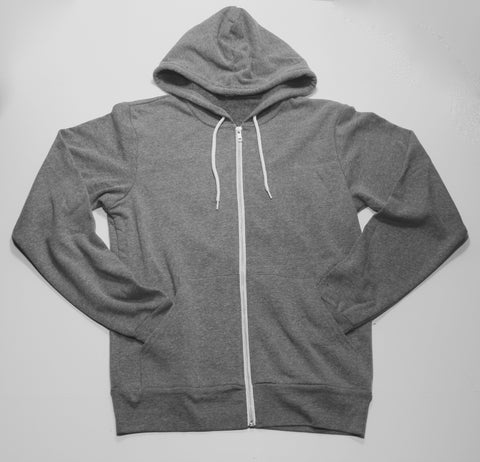 ZIP HOODIE (HEATHER GREY)