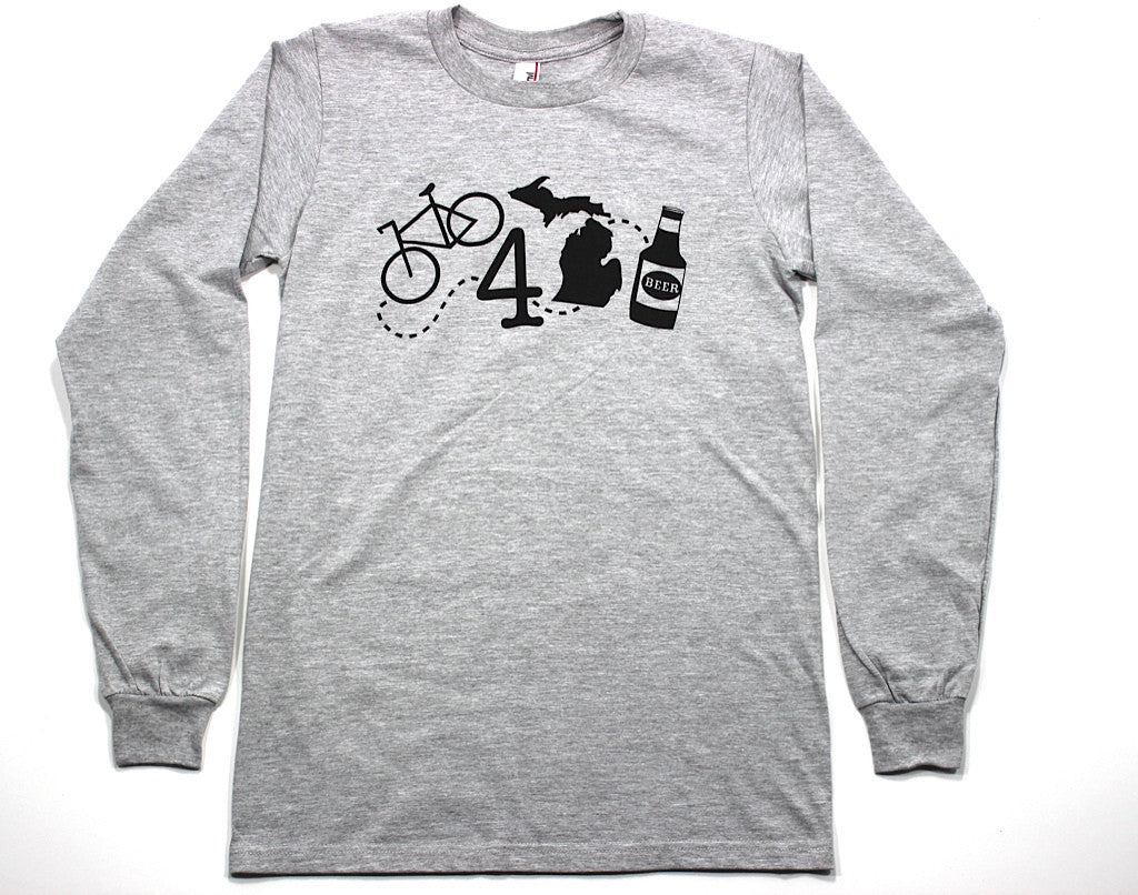 BIKE 4 MICHIGAN BEER LONG SLEEVE