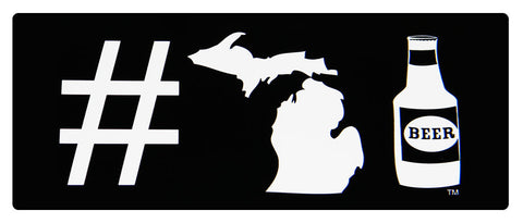 #MICHIGANBEER STICKER