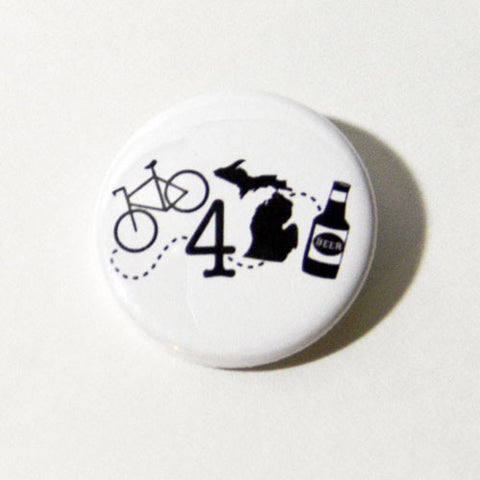 BIKE 4 MICHIGAN BEER BUTTON