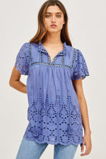 Eyelet Lace Blouse Top