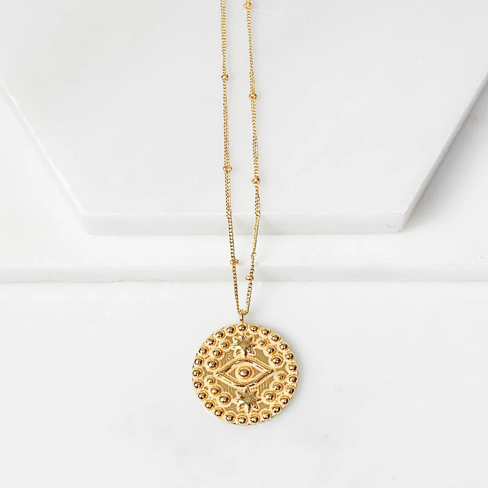 Eye of Protection Medallion Necklace