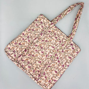 New - Quilted Tote Bag - Vintage Silk