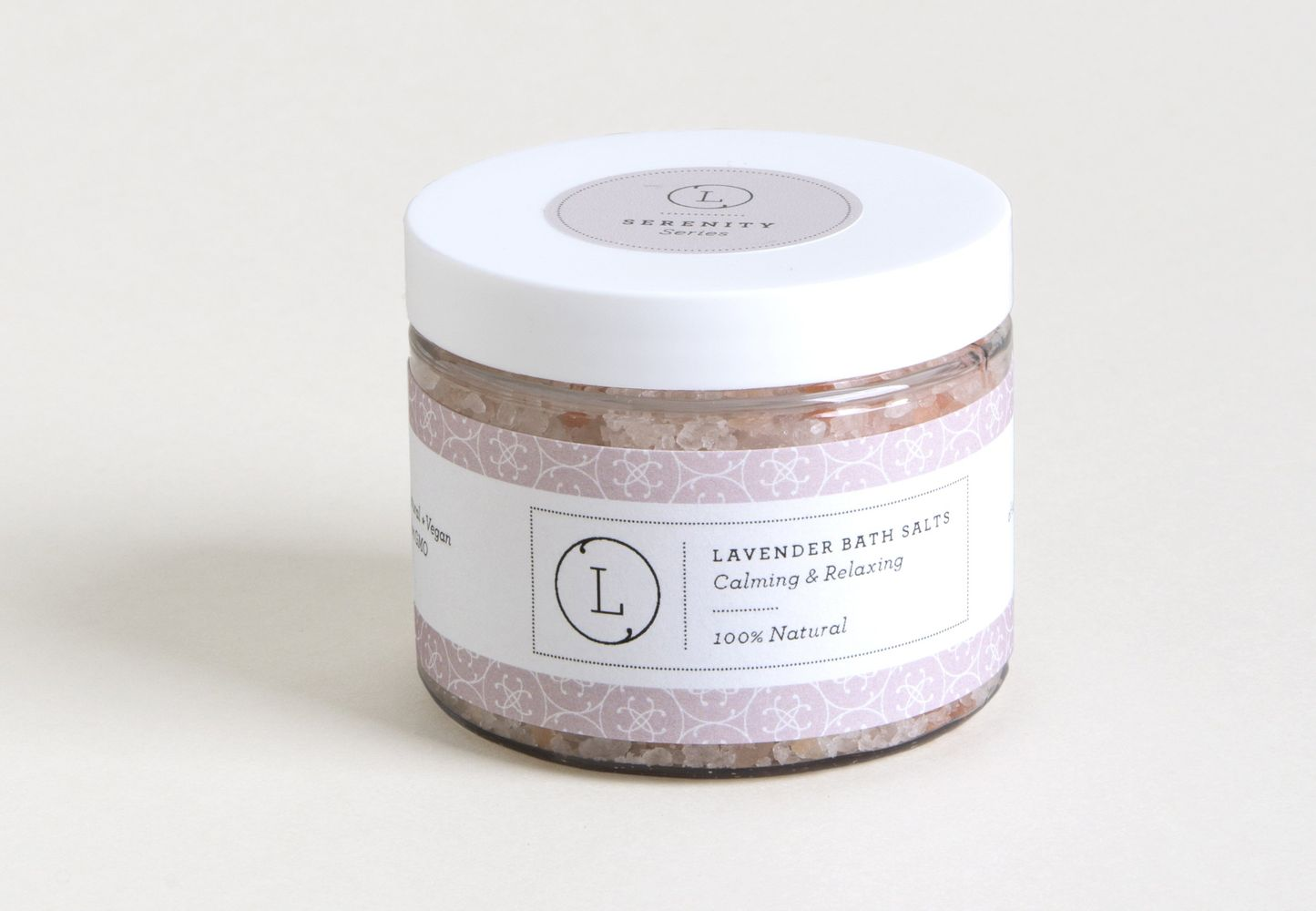 Lavender Natural Bath Salt Soak - With Dead sea, Epsom and Himalayan salts