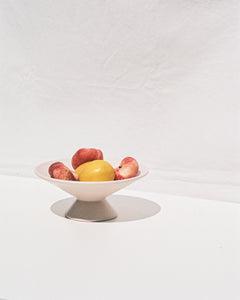 ceramic fruit bowl on base