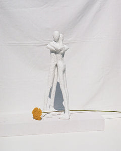 tall sculpture in white